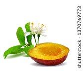 plum low poly. bloom of plum.... | Shutterstock .eps vector #1370769773