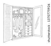 wardrobe open doors graphic...