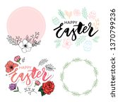 easter frame with easter eggs... | Shutterstock .eps vector #1370799236