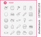 food hand drawn icons set for...