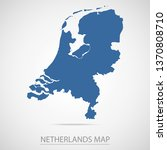 netherlands map. blue... | Shutterstock .eps vector #1370808710