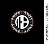 tb initial vintage logo design... | Shutterstock .eps vector #1370815253