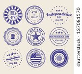 independence day stamps... | Shutterstock .eps vector #137081570