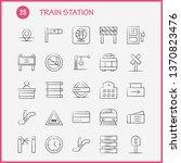 train station hand drawn icons...