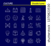 culture hand drawn icons set...