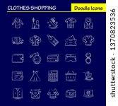 clothes shopping hand drawn...