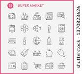 super market hand drawn icons...