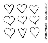 hand drawn heart icon | Shutterstock .eps vector #1370830310