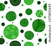 seamless pattern with green... | Shutterstock .eps vector #1370832659