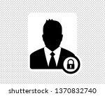 business man  locked profile... | Shutterstock .eps vector #1370832740
