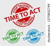 rubber stamp seal stop talking... | Shutterstock .eps vector #1370832749