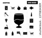 shopping solid glyph icon for...