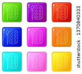 paint brush palette icons set 9 ...