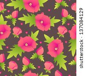 poppy seamless pattern | Shutterstock .eps vector #137084129