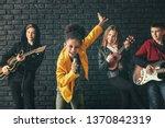 band of teenage musicians...   Shutterstock . vector #1370842319