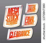 mega stock clearance  total and ... | Shutterstock .eps vector #1370847380