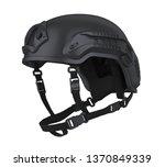 tactical helmet isolated. 3d...   Shutterstock . vector #1370849339