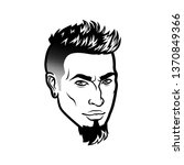 bearded men face hipster head...   Shutterstock . vector #1370849366
