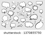 set of comic speech bubbles on... | Shutterstock .eps vector #1370855750