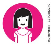avatar girl. add users icon  ...   Shutterstock .eps vector #1370882240