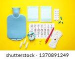 menstrual calendar with...   Shutterstock . vector #1370891249