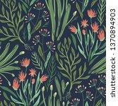vector floral seamless pattern... | Shutterstock .eps vector #1370894903