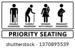 priority seating seat chair... | Shutterstock .eps vector #1370895539
