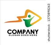 people arrow logo  logo of a... | Shutterstock .eps vector #1370898263