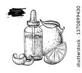 orange essential oil bottle and ... | Shutterstock .eps vector #1370899430