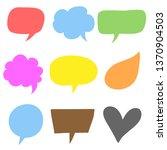 speech bubble hand drawn | Shutterstock .eps vector #1370904503