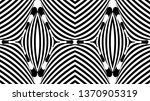 seamless pattern with hypnotic... | Shutterstock .eps vector #1370905319