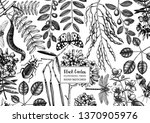 floral background. flowering... | Shutterstock .eps vector #1370905976