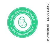 100  biodegradable and...   Shutterstock .eps vector #1370911550