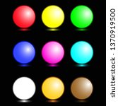 set of colorful realistic... | Shutterstock .eps vector #1370919500