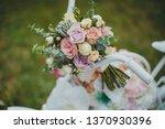 wedding bouquet in nature | Shutterstock . vector #1370930396