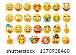 set of smiley emoticons. vector ...