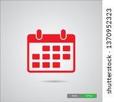 calendar icon in trendy flat... | Shutterstock .eps vector #1370952323