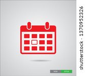 calendar icon in trendy flat... | Shutterstock .eps vector #1370952326