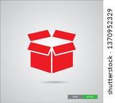box vector icon  in modern ... | Shutterstock .eps vector #1370952329