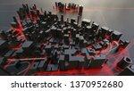 futuristic night city.... | Shutterstock . vector #1370952680