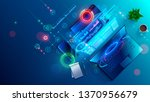 creating software and website... | Shutterstock .eps vector #1370956679