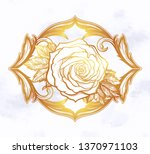 beautiful hand drawn rose... | Shutterstock .eps vector #1370971103