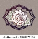 beautiful hand drawn rose... | Shutterstock .eps vector #1370971106