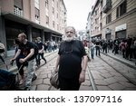 milan  italy   may 1  labor day ... | Shutterstock . vector #137097116
