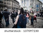 milan  italy   may 1  labor day ... | Shutterstock . vector #137097230