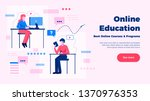 online education website page... | Shutterstock .eps vector #1370976353