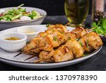grilled chicken kebab and salad ... | Shutterstock . vector #1370978390