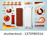 vector realistic 3d chocolate... | Shutterstock .eps vector #1370980316