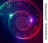 concept of space of time in the ... | Shutterstock .eps vector #1370997056