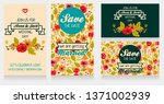 set of wedding banners with... | Shutterstock .eps vector #1371002939